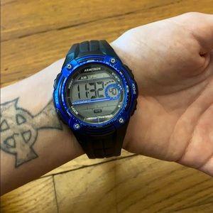 Armitron black/blue watch